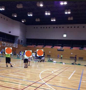田町でバスケ